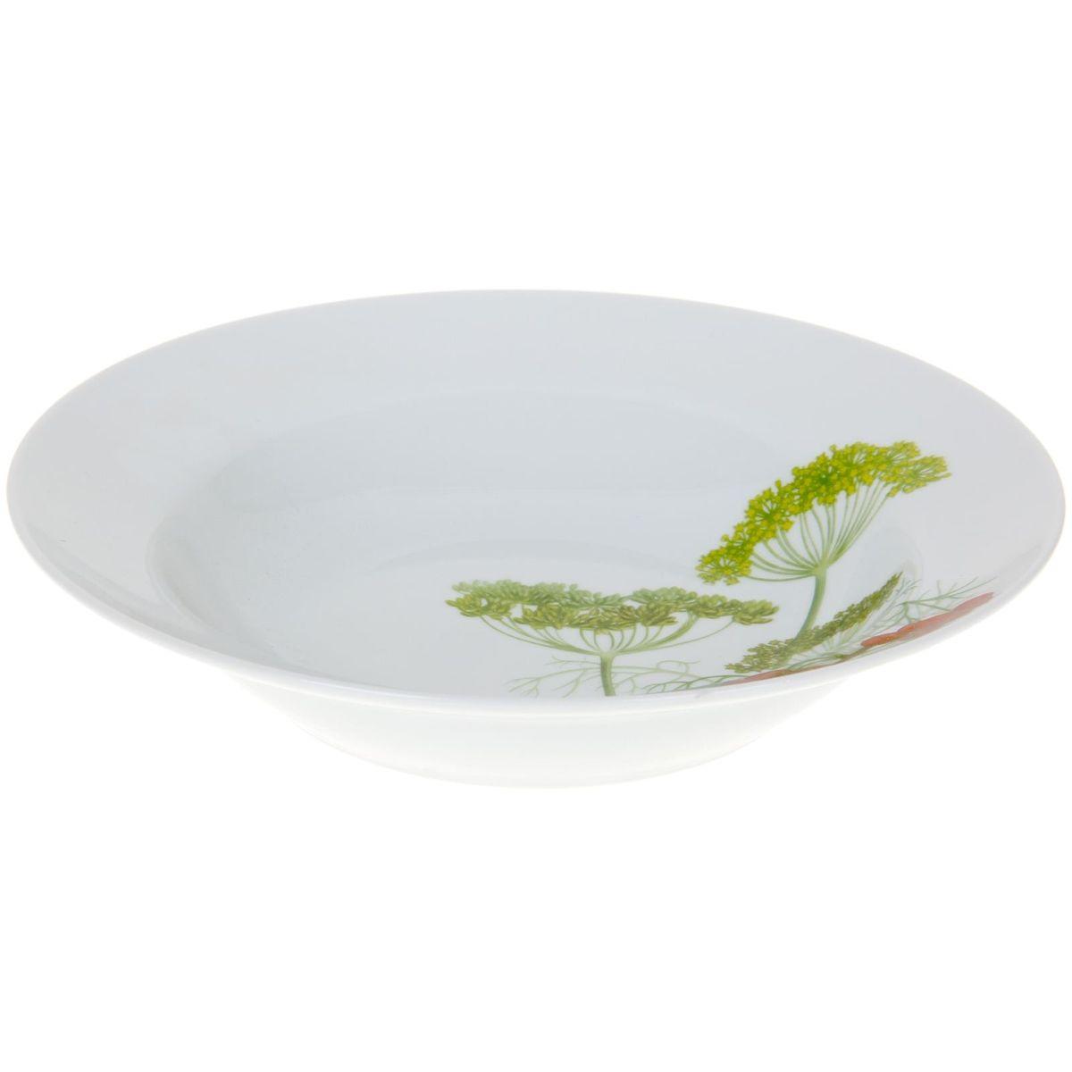 Тарелка глубокая Идиллия. Садочек, диаметр 24 см1224529Глубокая тарелка Идиллия. Садочек выполнена из высококачественного фарфора и украшена ярким рисунком. Она прекрасно впишется в интерьер вашей кухни и станет достойным дополнением к кухонному инвентарю. Тарелка Идиллия. Садочек подчеркнет прекрасный вкус хозяйки и станет отличным подарком.