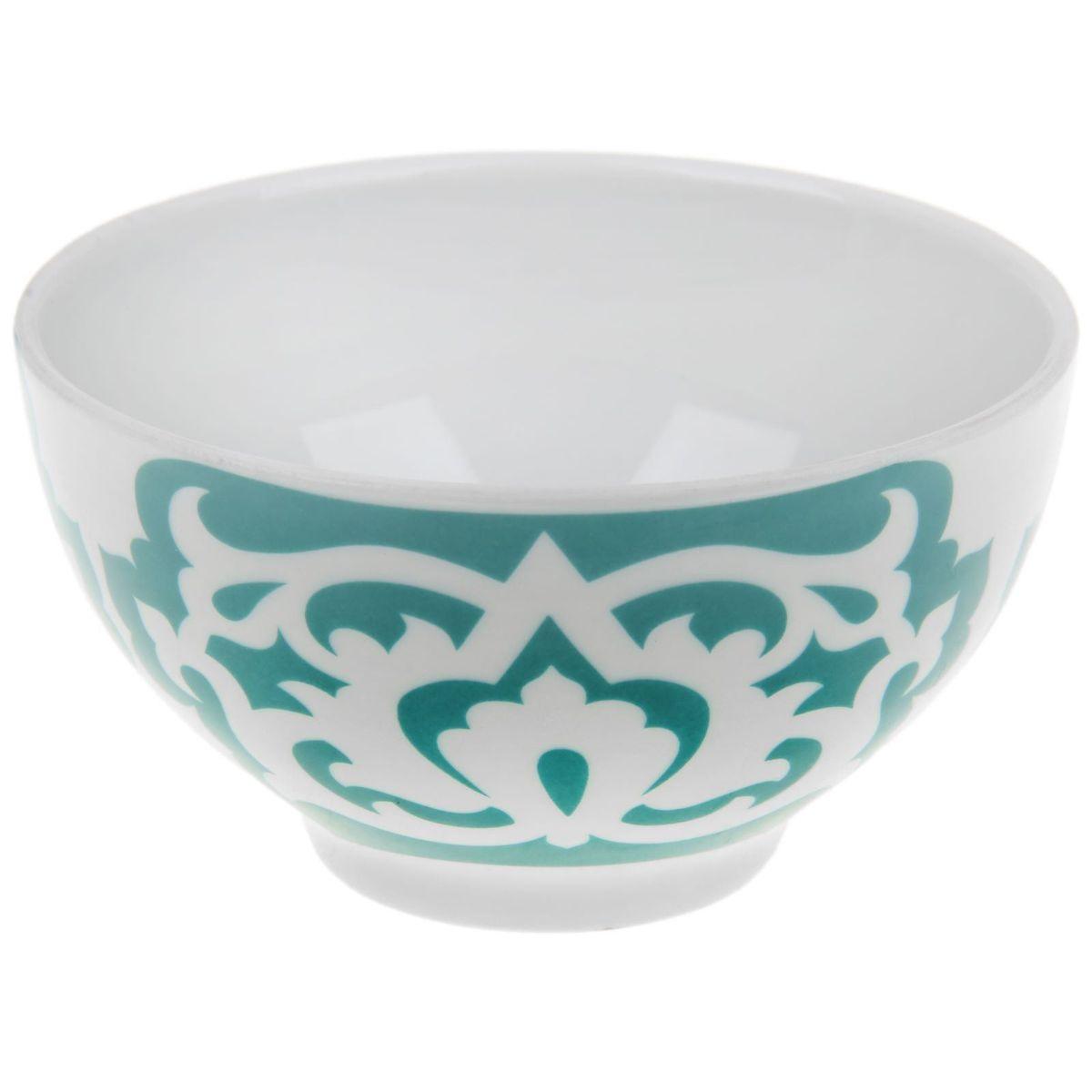 Пиала Азия, цвет: белый, зеленый, 250 мл1303821