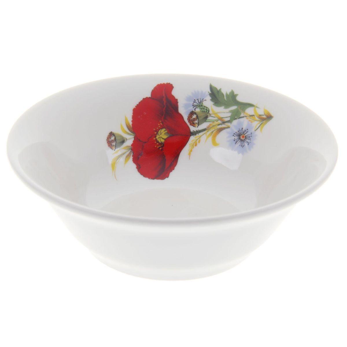 Салатник Идиллия. Маки красные, 360 мл4С0330