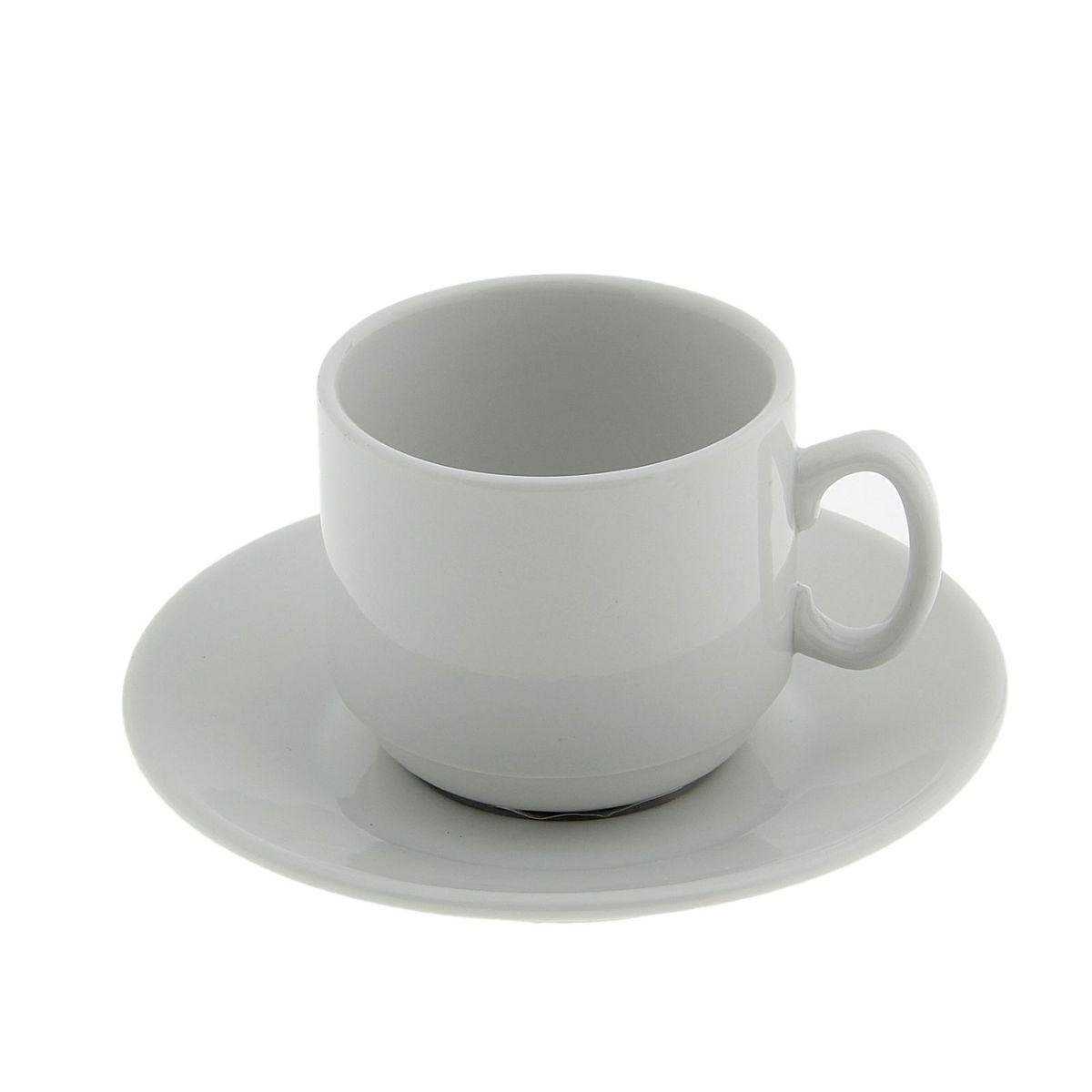Кофейный набор Мокко, 2 предмета507798Кофейная пара (чашка+ блюдце) 0,1 л ф 349, белье Мокко