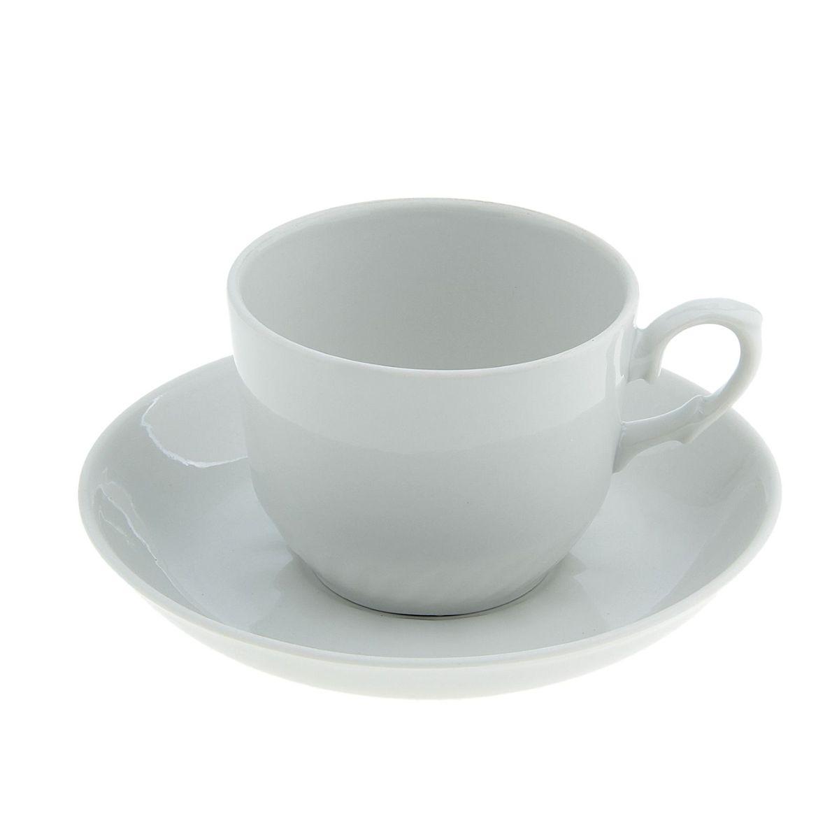 Чайная пара Кирмаш,. Белье, 2 предмета7С0181Чайная пара 250 мл (блюдце+чашка), Кирмаш, бельё 1-2сорт