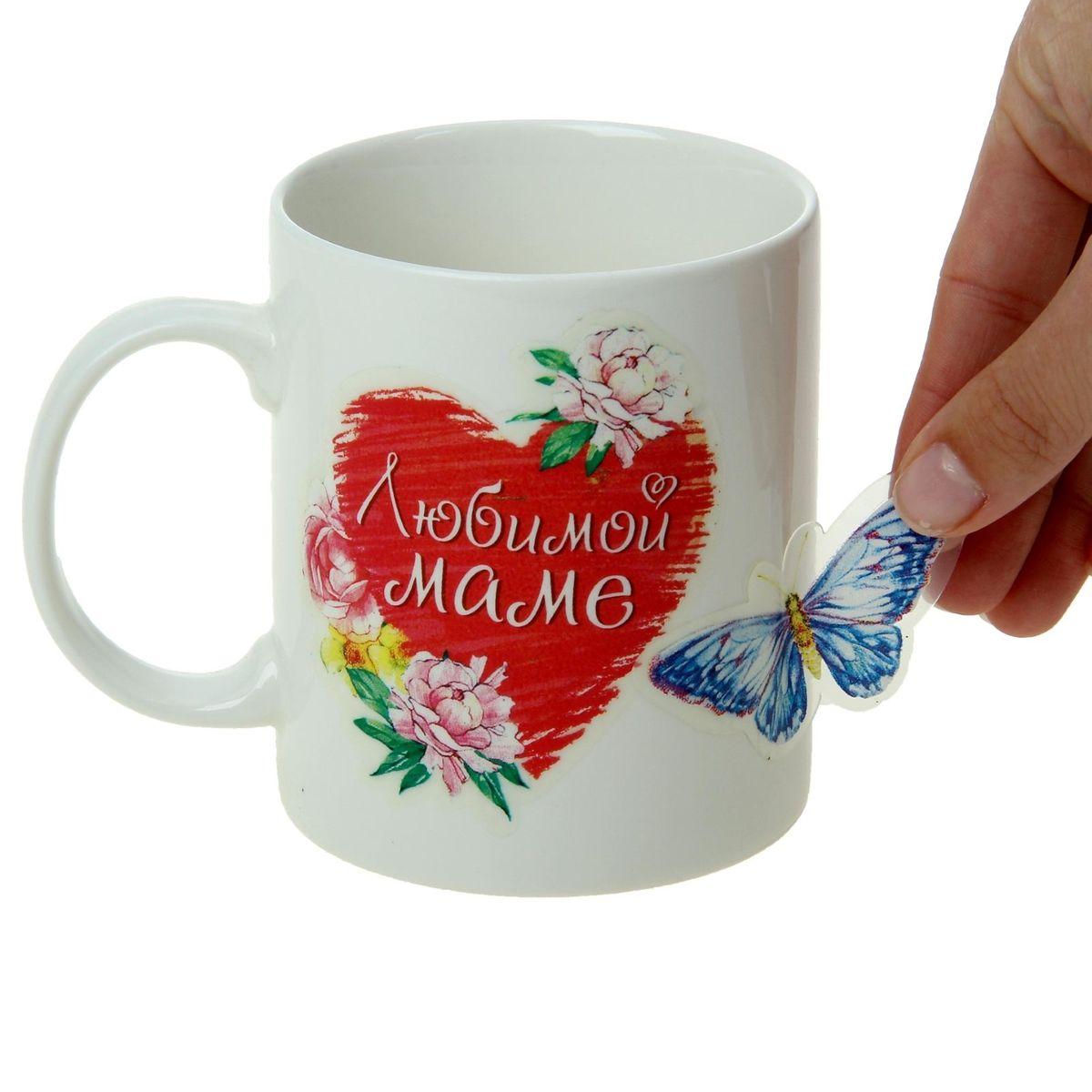Набор подарочный Любимой маме, 5 предметов957526Набор состоит из кружки (300 мл) и 4 листов с наклейками.