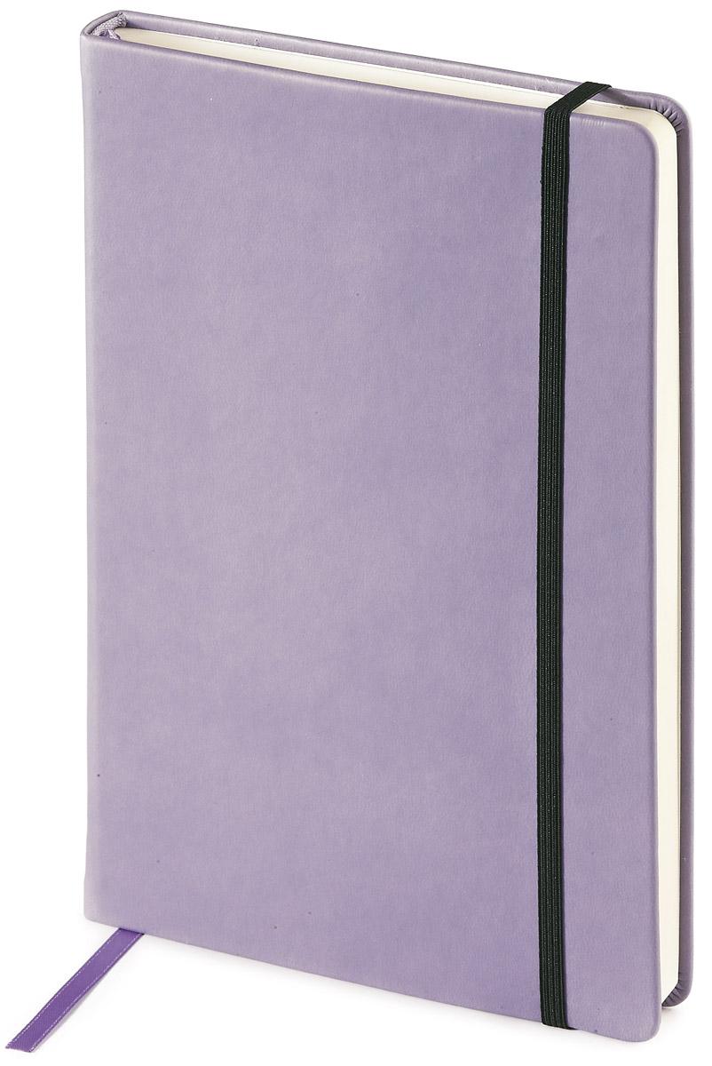Bruno Visconti Блокнот А5 100 л MEGAPOLIS VELVET цвет сиреневый