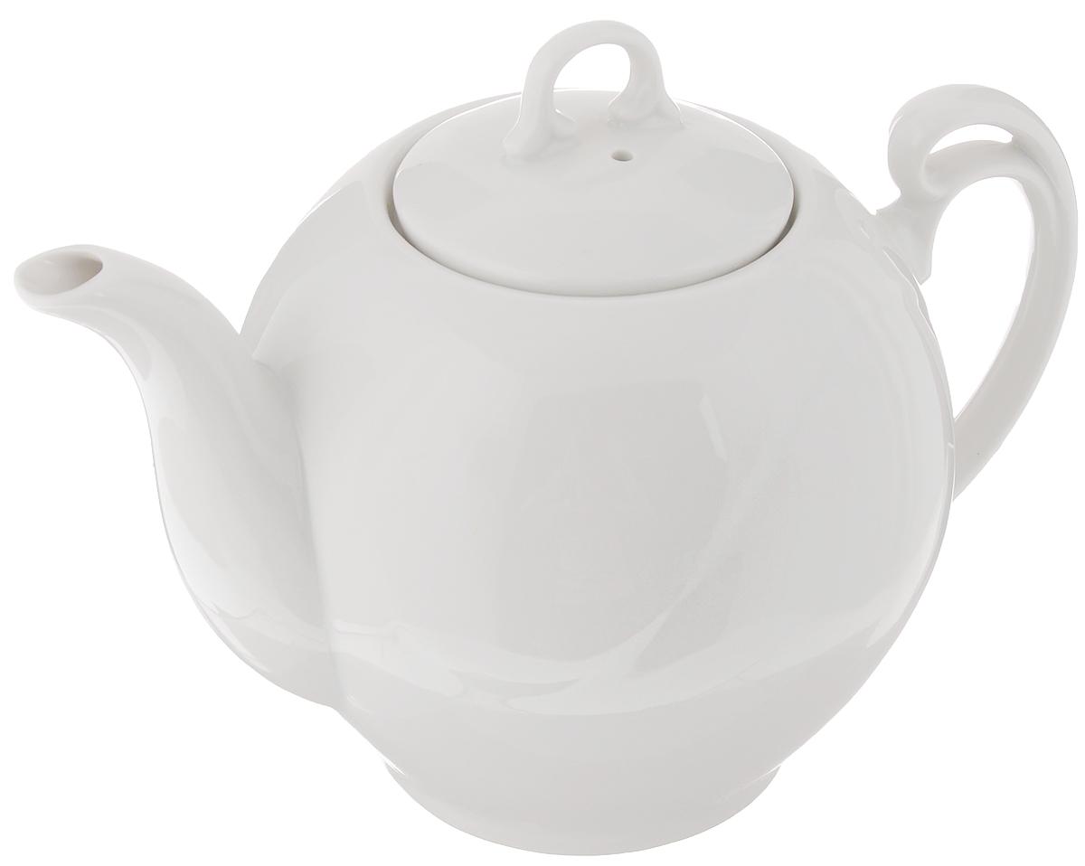 Чайник заварочный Гармония. Белье, 700 мл1303951Заварочный чайник Гармония. Белье изготовлен из высококачественного фарфора. Такой чайник идеально подойдет для заваривания чая. Он хорошо держит температуру, что способствует более полному раскрытию цвета, аромата и вкуса чайного букета. Изделие прекрасно дополнит сервировку стола к чаепитию и станет его неизменным атрибутом. Диаметр (по верхнему краю): 7 см. Диаметр основания: 7 см. Высота чайника (без учета крышки): 12 см.