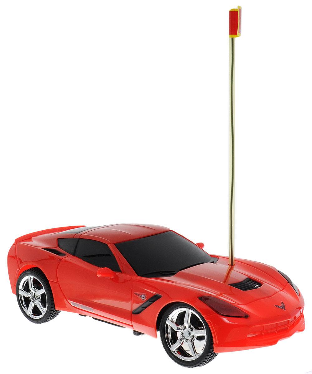 New Bright Радиоуправляемая модель Corvette Stingray2423СКультовый американский автомобиль Corvette Stingray привлечет внимание как ребенка, так и взрослого и понравится любому, кто увлекается автомобилями. Маневренная и реалистичная уменьшенная копия New Bright Corvette Stingray выполнена в точной детализации с настоящим автомобилем в масштабе 1:24. Управление машинкой происходит с помощью пульта. Машинка двигается вперед и назад, поворачивает направо и налево. Колеса игрушки прорезинены и обеспечивают плавный ход, машинка не портит напольное покрытие. Радиоуправляемые игрушки способствуют развитию координации движений, моторики и ловкости. Ваш ребенок часами будет играть с моделью, придумывая различные истории и устраивая соревнования. Порадуйте его таким замечательным подарком! Для работы игрушки необходимы 3 батарейки типа АА (не входят в комплект). Для работы пульта управления необходимы 2 батарейки типа АА (не входят в комплект).