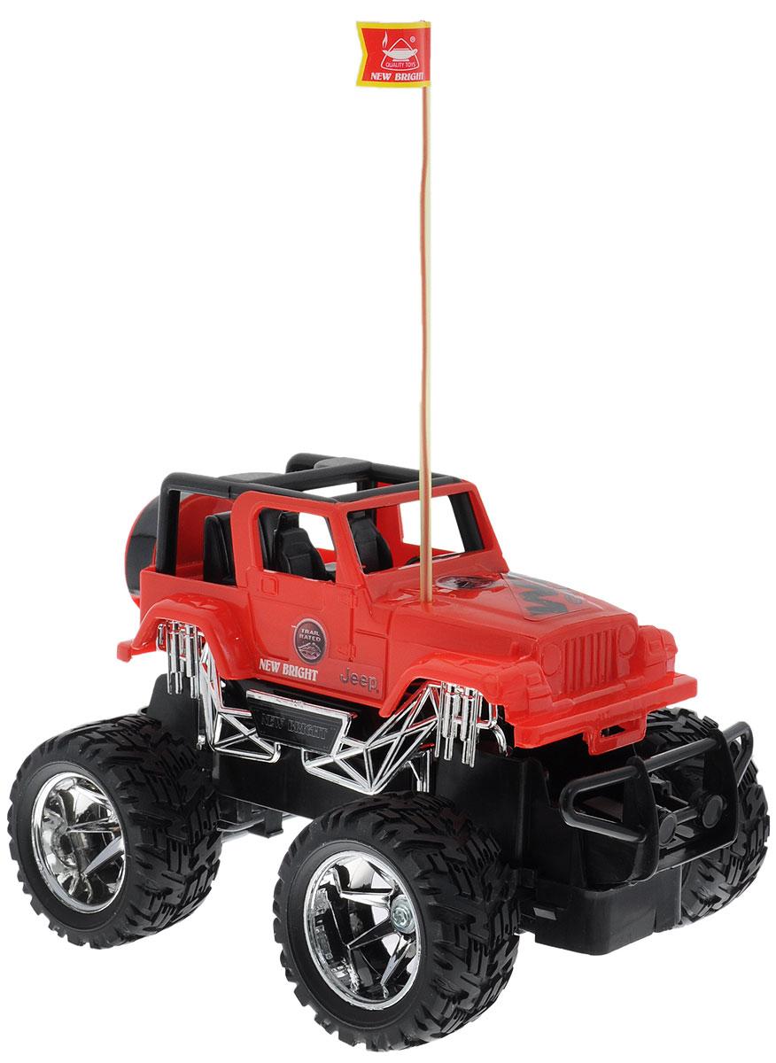 New Bright Радиоуправляемая модель Jeep Wrangler цвет красный масштаб 1:242424J_красныйКультовый американский автомобиль Jeep Wrangler привлечет внимание как ребенка, так и взрослого и понравится любому, кто увлекается автомобилями. Маневренная и реалистичная уменьшенная копия New Bright Jeep Wrangler выполнена в точной детализации с настоящим автомобилем в масштабе 1:24. Управление машинкой происходит с помощью пульта. Машинка двигается вперед и назад, поворачивает направо и налево. Колеса игрушки прорезинены и обеспечивают плавный ход, машинка не портит напольное покрытие. Радиоуправляемые игрушки способствуют развитию координации движений, моторики и ловкости. Ваш ребенок часами будет играть с моделью, придумывая различные истории и устраивая соревнования. Порадуйте его таким замечательным подарком! Для работы игрушки необходимы 3 батарейки типа АА (не входят в комплект). Для работы пульта управления необходимы 2 батарейки типа АА (не входят в комплект).