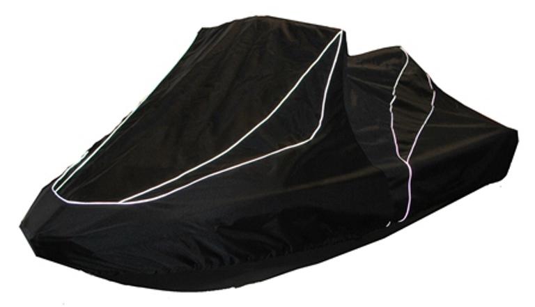 Чехол AG-brand для гидроцикла BRP SPARK 2-UP, цвет: черныйAG-BRP-WV-Spark2-TCЧехол предназначен для транспортировки и хранения гидроцикла. По нижней кромке чехла вшита плотная резинка, обеспечивающая надежную фиксацию на гидроцикле. Чехол имеет светоотражающий кант, клапана для выхода избыточного воздуха и молнию под заливную горловину бака. В комплект транспортировочного чехла входит прочная текстильная стропа для крепления техники в прицепе или специальном боксе для перевозки.