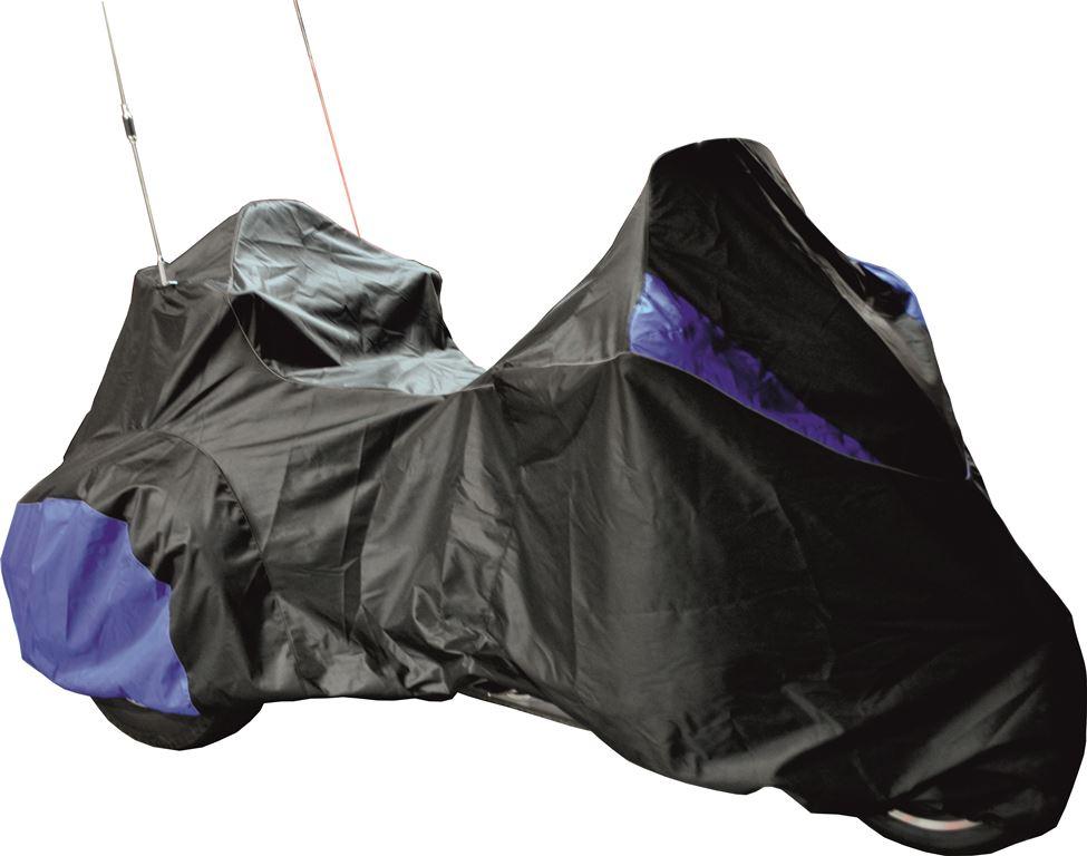 Чехол AG-brand для мотоцикла Honda GL1800 Gold Wing Trike, цвет: черныйAG-Hnd-MC-GLTrike-SCЧехол специально разработан для мотоцикла Honda GL1800 Gold Wing Trike. Чехол для мотоцикла имеет клапаны на молнии для антенн, изготовлен из высокопрочной непромокаемой ткани. Резинка у переднего и заднего колес в совокупности с застежкой снизу мотоцикла не позволит самым сильным порывам ветра сорвать чехол. Светоотражающий кант сделает чехол более заметным на стоянке в темное время суток.