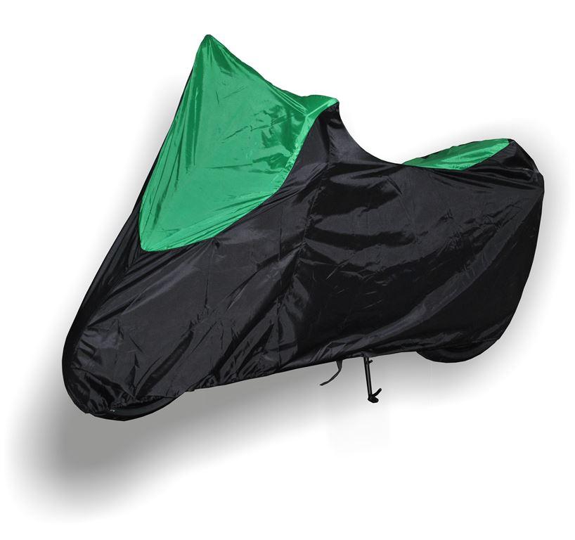 "Чехол ""AG-brand"" для мотоцикла Kawasaki Z, цвет: черный, зеленый"