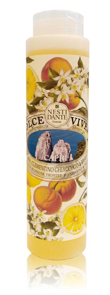 Nesti Dante Гель для душа Capri-Капри 300 мл5047106Жидкое мыло и гели Nesti Dante производится исключительно из растительных масел и содержит 100% оливковое масло. Содержащееся в продуктах оливковое масло известно как «эликсир молодости» благодаря высокой концентрацией витамина Е, который помогает бороться с образованием свободных радикалов, повинных в старении кожи