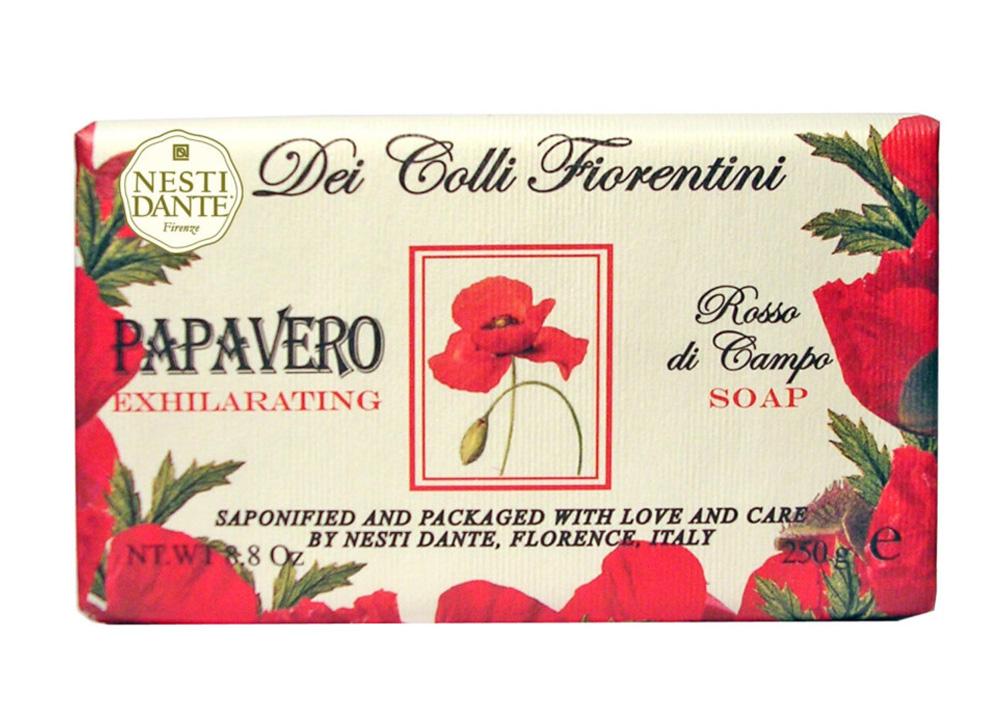 Nesti Dante Мыло Dei Colli Fiorentini. Мак, 250 г1752106Великолепное растительное мыло премиум-класса Nesti Dante Dei Colli Fiorentini. Мак изготовлено по старинным рецептам и по традиционной котловой технологии, в составе мыла только натуральные оливковое и пальмовое масло высочайшего качества, для ароматизации использованы органические эфирные масла. Ежедневный ритуал красоты, любви и заботы не только для тела, но и для души. Мыло Dei Colli Fiorentini. Мак - путешествие в мир ароматов сквозь цветущие флорентийские холмы - для хорошего самочувствия и бодрости духа, возбуждающий аромат. Изысканная флорентийская бумага, в которую завернуто мыло, расписана акварелью, на каждом кусочке мыла выгравирована надпись With Love And Care (С любовью и заботой). Товар сертифицирован.