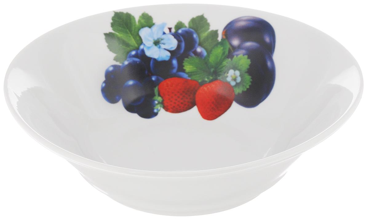 Салатник Идиллия. Ассорти, 1,15 л1303825Великолепный круглый салатник Идиллия. Ассорти, изготовленный из фарфора, прекрасно подойдет для подачи различных блюд: закусок, салатов или фруктов. Такой салатник украсит ваш праздничный или обеденный стол, а оригинальное исполнение понравится любой хозяйке. Диаметр: 22 см.