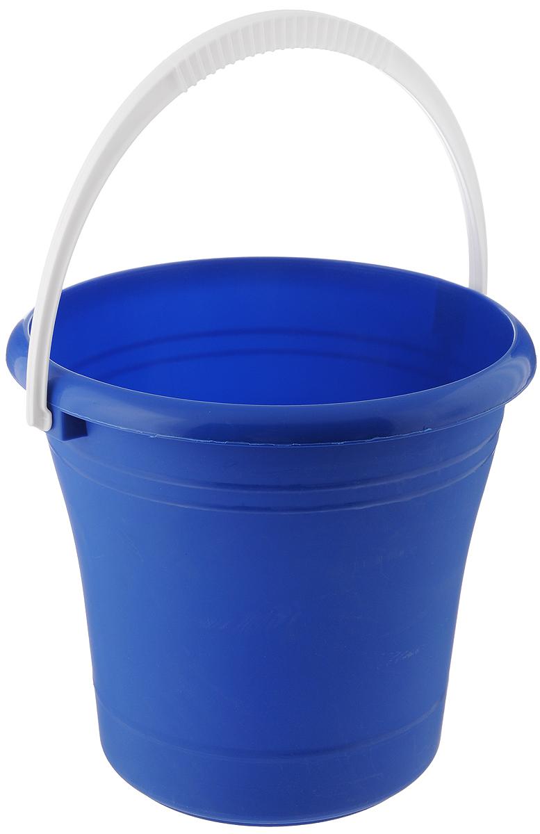 Ведро Альтернатива, цвет: синий, 10 лМ007_синийВедро Альтернатива изготовлено из высококачественного пластика. Оно легче железного и не подвержено коррозии. Для удобства использования ведро оснащено пластиковой ручкой. Ведро предназначено для бытовых нужд. Диаметр ведра: 27 см. Высота стенок: 27 см.