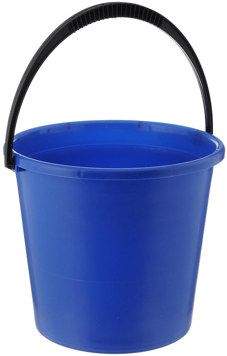 Ведро Альтернатива, цвет: синий, 7 лМ1079_синийВедро Альтернатива изготовлено из высококачественного пластика. Оно легче железного и не подвержено коррозии. Для удобства использования ведро оснащено пластиковой ручкой. Ведро предназначено для бытовых нужд. Диаметр ведра: 24 см. Высота стенок: 22 см.