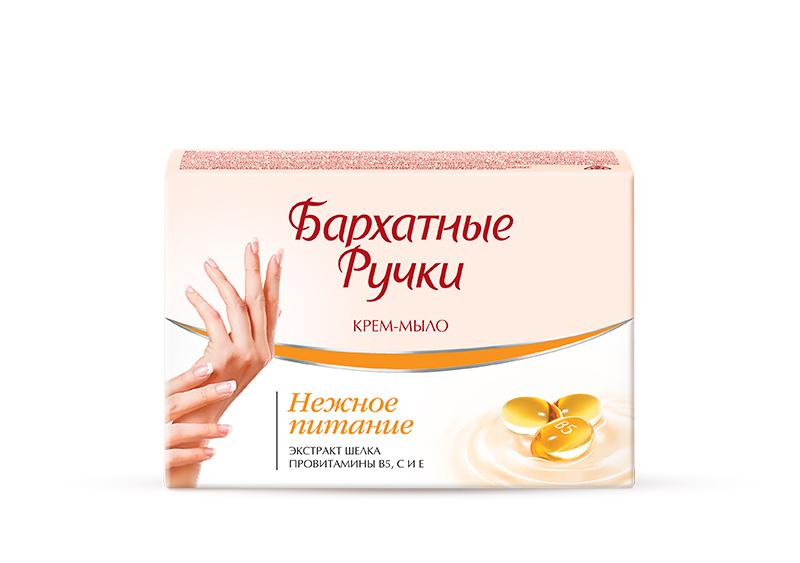 Бархатные Ручки Крем-мыло Нежное питание 75 гр