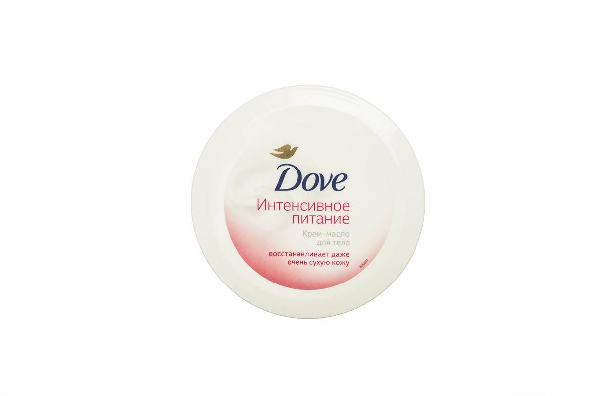 Dove Крем-масло для тела для очень сухой кожи Интенсивное питание 250 мл8413701Крем-масло для тела Dove Интенсивное для очень сухой кожи с формулой Cream-Oil содержит два наиболее действенных увлажняющих компонента: питательное масло и густой увлажняющий крем. Это сочетание дает стянутой, загрубевшей и очень сухой коже непревзойденное увлажнение от Dove.