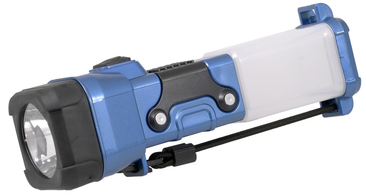 Фонарь ручной FOCUSray. FR-140Фонарь Focusray FR-140Универсальный фонарь FOCUSray предназначен для освещения предметов и местности при отсутствии иных источников света. Фонарь работает в трех режимах: 1) первое нажатие кнопки - свечение мини прожектора в три ярких светодиода; 2) второе нажатие - свечение кемпингового фонаря в шесть светодиодов; 3) третье нажатие - свечение ночника (приглушенный свет) - один желтый светодиод. В фонаре используются три алкалиновые батарейки АА (не входят в комплект). Для замены элементов питания необходимо отвернуть отражатель, вынуть контейнер и вставить в него батарейки, соблюдая полярность. Рекомендуется использовать батарейки одного вида и одного производителя. Корпус фонаря изготовлен из ударопрочного пластика. Отражатель дополнительно защищен резиновой накладкой. Удобный ремешок позволяет использовать фонарь при всех режимах свечения. Ремешок возможно крепить и вдоль корпуса фонаря для ношения, и в торцевой части фонаря для подвешивания. Длина фонаря составляет 20,5 см. Длительность службы...