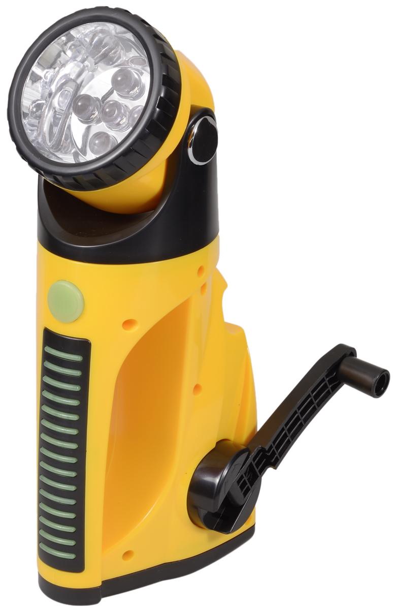 Фонарь ручной FOCUSray. FR-482Фонарь Focusray FR-482Компактный аккумуляторный фонарь FOCUSray оснащен пятью светодиодами и встроенным электродинамическим зарядным устройством. Фонарь компактный, удобный, экономичный, обладает высокими техническими и потребительскими характеристиками фонарь. Он просто незаменим на рыбалке, охоте, туристическом походе, так как для его работы не требуются батарейки. С этим фонарем вы всегда будете со светом. Свечение до 15 минут после вращения ручки в течении 1 минуты. До 6 часов свечения после 4 часов зарядки от автомобильной электросети. Фонарь имеет 2 режима свечения: экономичный (3 диода) и яркий (5 диодов). Дальность свечения: 20 м.