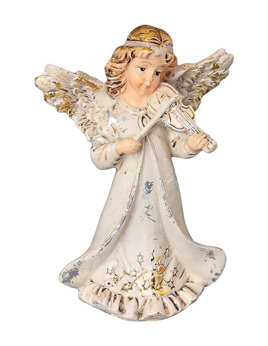 Фигурка декоративная Elan Gallery Ангел со скрипкой, высота 8,5 см670099Декоративная фигурка с изображением ангелочка станет прекрасным сувениром, который вызовет улыбку и поднимет настроение. Фигурка выполнена из полистоуна.