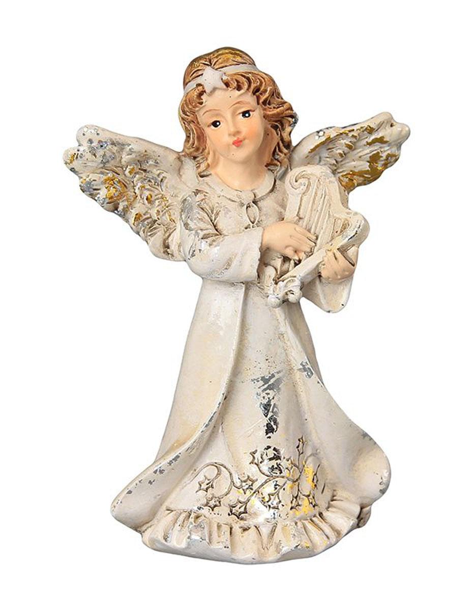 Фигурка декоративная Elan Gallery Ангел с арфой, высота 8,5 см670101Декоративная фигурка с изображением ангелочка станет прекрасным сувениром, который вызовет улыбку и поднимет настроение. Фигурка выполнена из полистоуна.