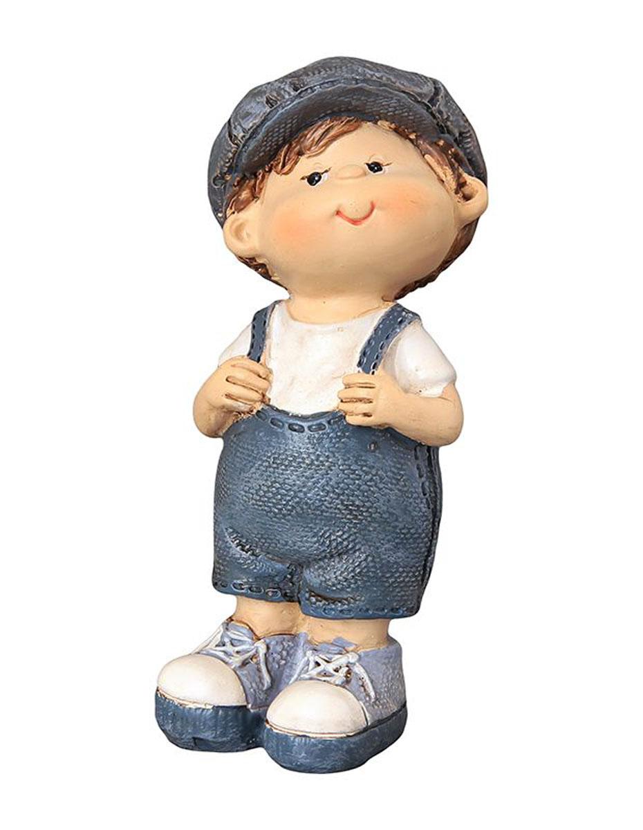 Фигурка декоративная Elan Gallery Любопытный мальчик, высота 9,5 см670104Декоративная фигурка с изображением мальчика станет прекрасным сувениром, который вызовет улыбку и поднимет настроение. Фигурка выполнена из полистоуна.