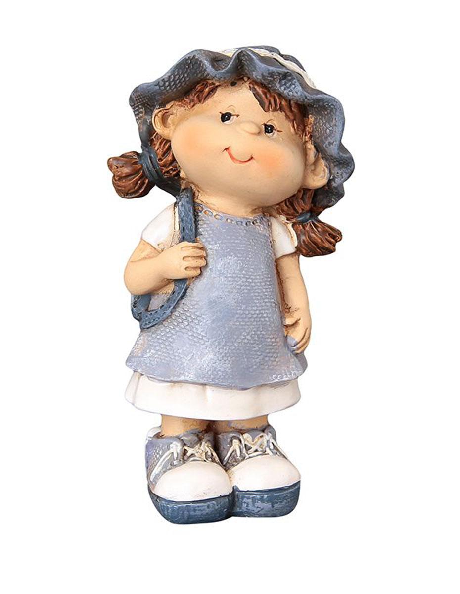 Фигурка декоративная Elan Gallery Девочка с рюкзачком, высота 9,5 см670105Декоративная фигурка с изображением девочки, станет прекрасным сувениром, который вызовет улыбку и поднимет настроением. Фигурка выполнена из полистоуна.