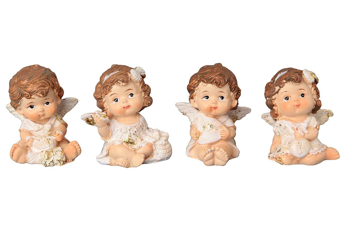 Фигурка декоративная Elan Gallery Ангелочки, высота 5 см670118Декоративная фигурка с изображением ангелочков, станет прекрасным сувениром, который вызовет улыбку и поднимет настроение. Фигурка выполнена из полистоуна.