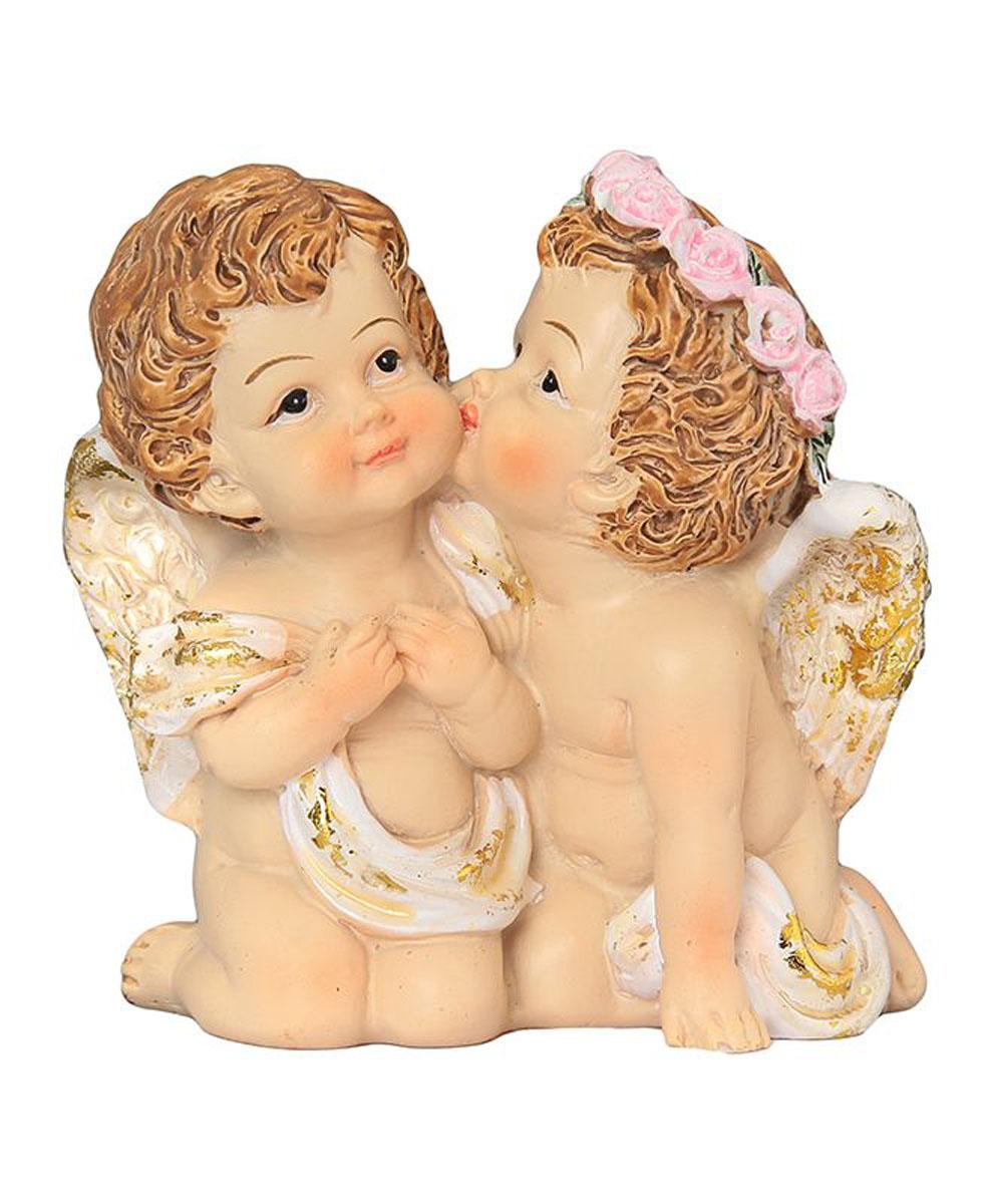 Фигурка декоративная Elan Gallery Поцелуй ангелочков, высота 7 см670119Декоративная фигурка, изготовленная из полистоуна, станет необычным аксессуаром для вашего интерьера. Эта очаровательная вещица станет отличным подарком вашим друзьям и близким.