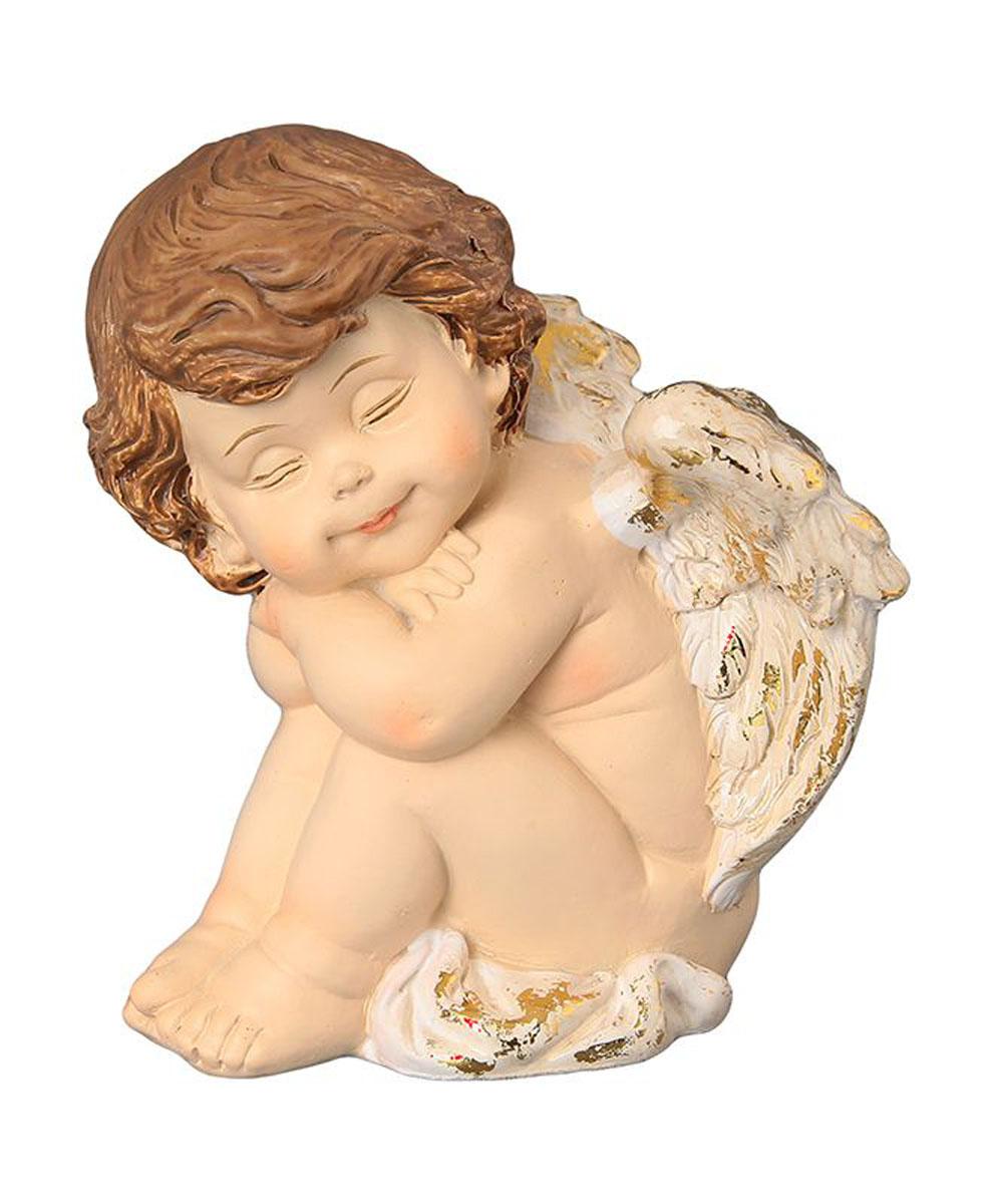 Фигурка декоративная Elan Gallery Ангелочек спящий, высота 10 см670143Декоративная фигурка с изображением ангелочка станет прекрасным сувениром, который вызовет улыбку и поднимет настроение. Фигурка выполнена из полистоуна.