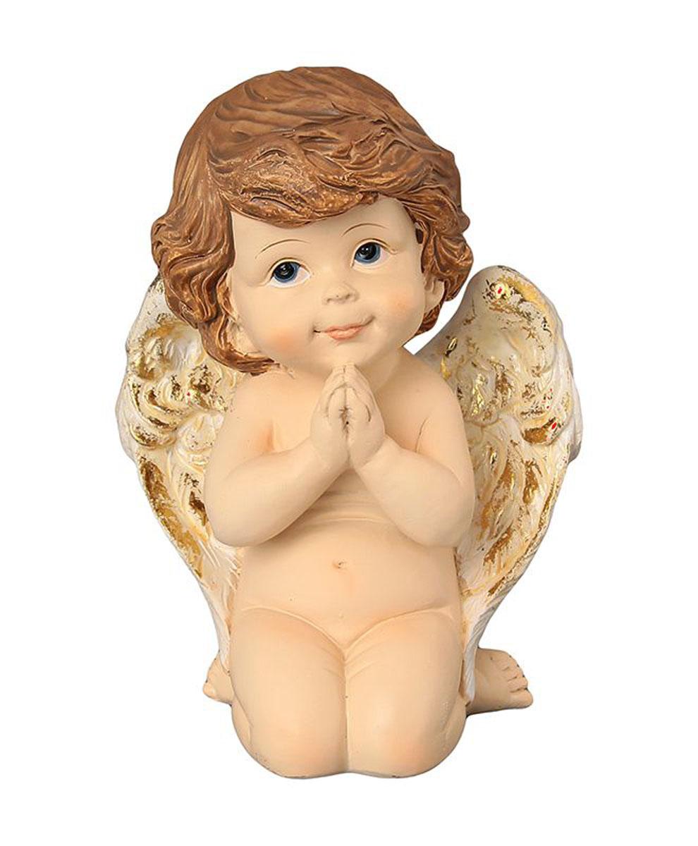 Фигурка декоративная Elan Gallery Задумчивый ангелочек, высота 14 см670149Декоративные фигурки - это отличный способ разнообразить внутреннее убранство вашего дома.