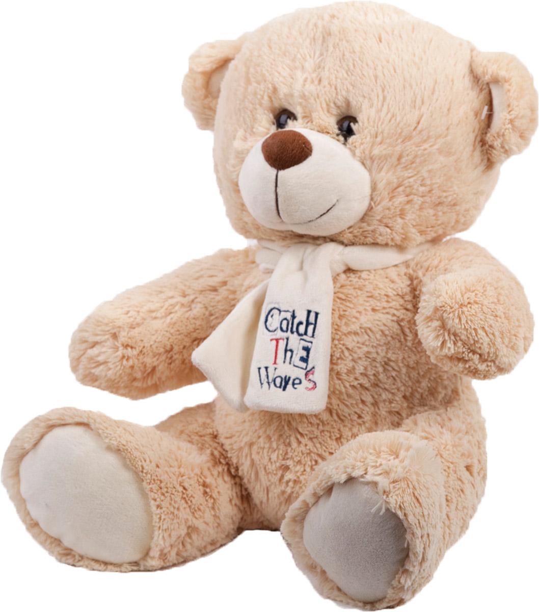 Button Blue Мягкая игрушка Медведь Тишка с шарфиком 40 см40-12-0008-1Мягкая игрушка Медведь Тишка, выполнена в виде очаровательного медвежонка. Игрушка изготовлена из плюша и искусственного меха светло- бежевого цвета. У Тишки пластиковые черные глазки, милая улыбка, а на шее белый шарфик. Удивительно мягкая игрушка принесет радость и подарит своему обладателю мгновения нежных объятий и приятных воспоминаний. Великолепное качество исполнения делают эту игрушку чудесным подарком к любому празднику. Трогательная и симпатичная, она непременно вызовет улыбку у детей и взрослых.