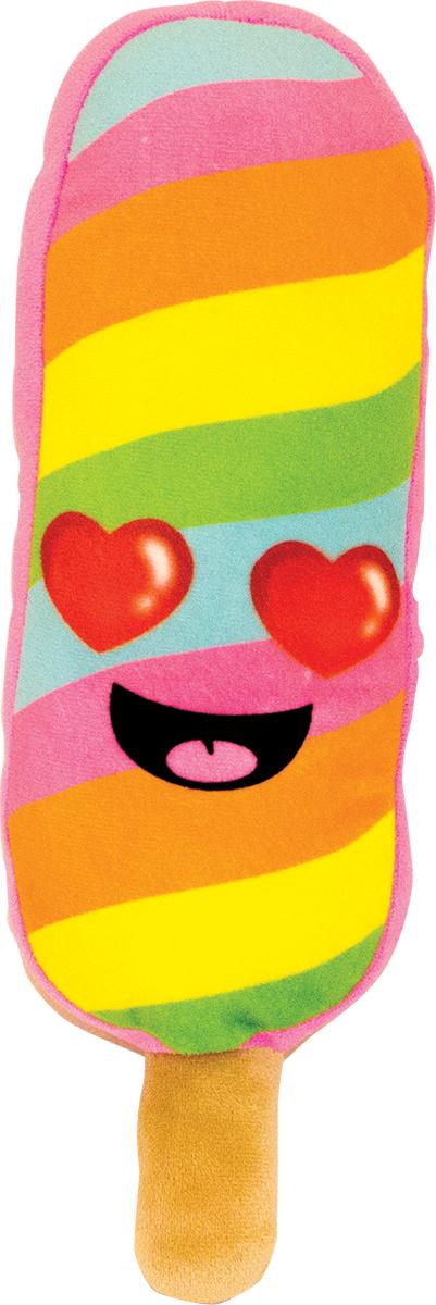 Button Blue Мягкая игрушка Мороженка-радуга 20 см42, 42-DT160843-3Мягкая игрушка Мороженка-радуга, выполнена в виде забавного эскимо. Игрушка изготовлена из яркого текстиля с цветными полосками и пластиковыми глазками-сердечками. Удивительно мягкая игрушка принесет радость и подарит своему обладателю мгновения нежных объятий и приятных воспоминаний. Великолепное качество исполнения делают эту игрушку чудесным подарком к любому празднику. Трогательная и симпатичная, она непременно вызовет улыбку у детей и взрослых.