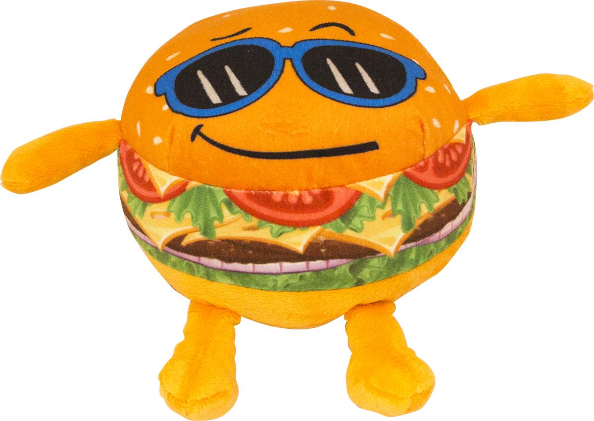 Button Blue Мягкая игрушка Крутой бургер 20 см42, 42-DT160843-7Мягкая игрушка Крутой бургер, выполнена в виде забавного бутерброда. Игрушка изготовлена из яркого текстиля. У бургера имеются ручки и ножки. Крутой бургер в солнечных очках и с широкой улыбкой. Удивительно мягкая игрушка принесет радость и подарит своему обладателю мгновения хорошего настроения и приятных воспоминаний. Великолепное качество исполнения делают эту игрушку чудесным подарком к любому празднику. Трогательная и симпатичная, она непременно вызовет улыбку у детей и взрослых.