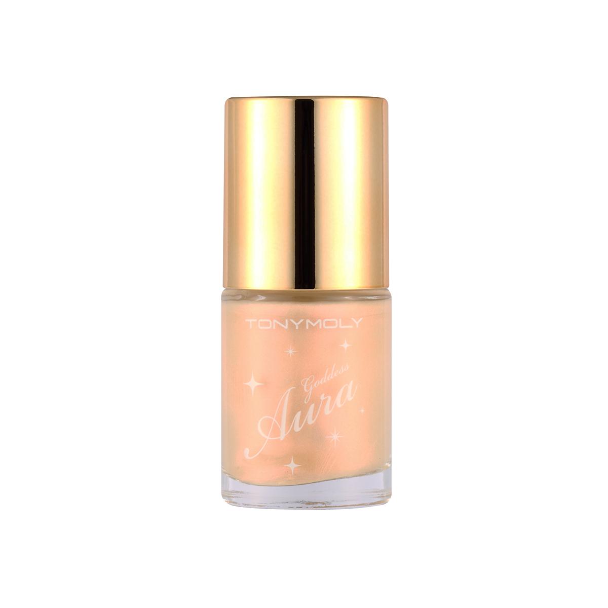 TonyMoly Жидкий хайлайтер Luminous Goddess Aura Crystal Light 02 Gold Glam, 10 млBM08002300Мягкий хайлайтер с кремовой текстурой, помогает скорректировать овал лица, подчеркнуть и высветить отдельные его зоны. Средство обеспечивает максимально естественное покрытие, отлично ложится на кожу любого типа и прекрасно растушевывается. В составе хайлайтера содержатся масла арганы, шиповника и оливы, мягко увлажняющие и питающие кожу. Порошок жемчуга и аметиста придает коже деликатное свечение, визуально делая ее здоровой, свежей и отдохнувшей. Gold Glam – хайлайтер с мягким золотисто-бежевым свечением, скрывает морщинки и расширенные поры.