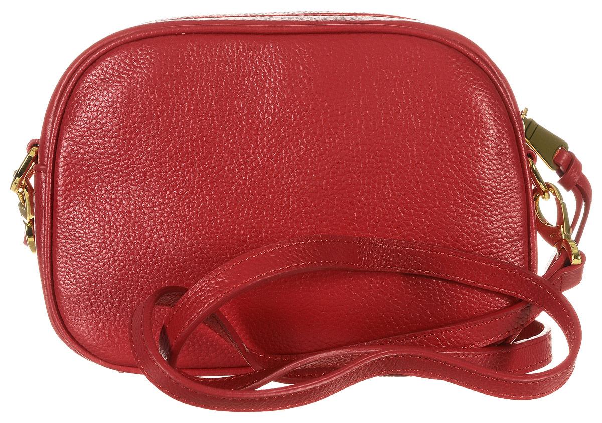 Сумка женская Vitacci, цвет: красный. 82299А-382299А-3Изысканная женская сумка Vitacci выполнена из качественной натуральной кожи. Модель имеет одно основное отделение, закрывающееся на застежку-молнию. Внутри имеется прорезной кармашек на застежке-молнии и два накладных кармашка для телефона и мелочей. Снаружи на задней стенке располагается прорезной карман на застежке-молнии. Изделие оснащено съемным плечевым ремнем, который регулируется по длине. Роскошная сумка внесет элегантные нотки в ваш образ и подчеркнет ваше отменное чувство стиля.