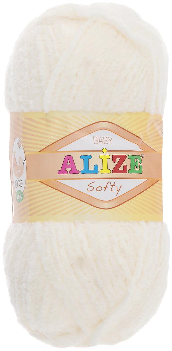 Пряжа для вязания Alize Softy, цвет: слоновая кость (62), 115 м, 50 г, 5 шт694530_62Пряжа для вязания Alize Softy изготовлена из микрополиэстера. Фантазийная плюшевая пряжа для ручного вязания прекрасно подойдет для детской одежды. Ниточка мягкая и приятная на ощупь. Подходит для вязания спицами и крючком. Рекомендованные спицы 3-5 мм и крючок для вязания 2-4 мм. Комплектация: 5 мотков.