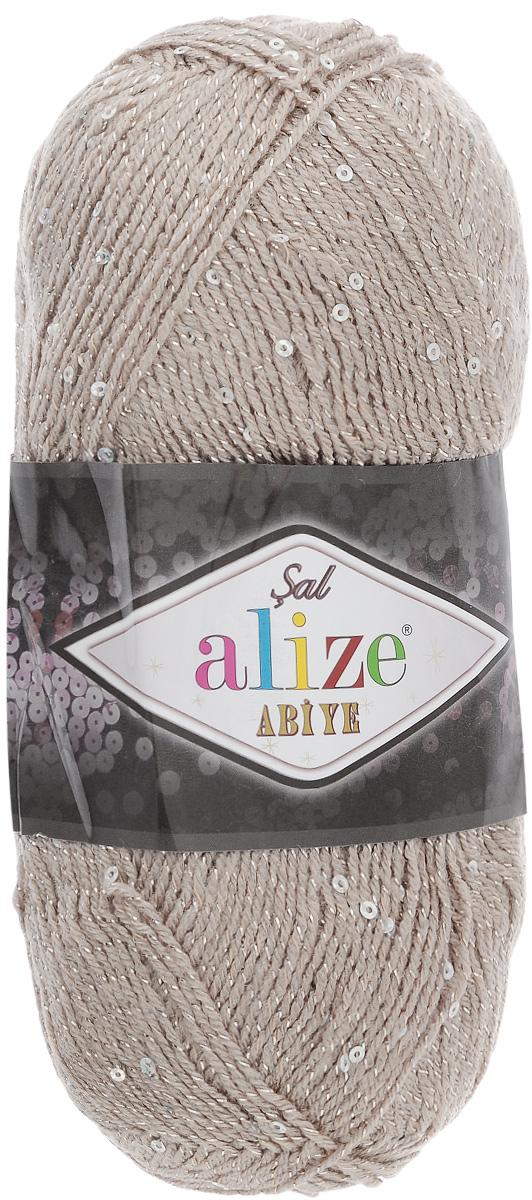 Пряжа для вязания Alize Sal Abiye, цвет: серо-бежевый, (541), 410 м, 100 г, 5 шт372113_541Пряжа Alize Sal Abiye - это фантазийная акриловая пряжа с добавлением в тон нити пайеток и металлика. Такая нарядная пряжа подходит для вязания элегантных вечерних нарядов, сумочек, кошельков, украшений и прочего. Рекомендованный размер спиц: № 2-4 мм, Рекомендованный размер крючка: № 1-4 мм. Состав: 80% акрил, 10% полиэстер, 5% пайетки, 5% металлизированная нить.