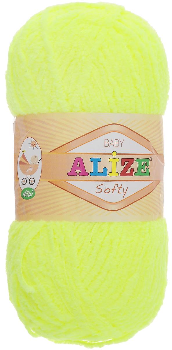 Пряжа для вязания Alize Softy, цвет: неоновый желтый (552), 115 м, 50 г, 5 шт694530_552Пряжа для вязания Alize Softy изготовлена из микрополиэстера. Фантазийная плюшевая пряжа для ручного вязания прекрасно подойдет для детской одежды. Ниточка мягкая и приятная на ощупь. Подходит для вязания спицами и крючком. Рекомендованные спицы 3-5 мм и крючок для вязания 2-4 мм. Комплектация: 5 мотков.