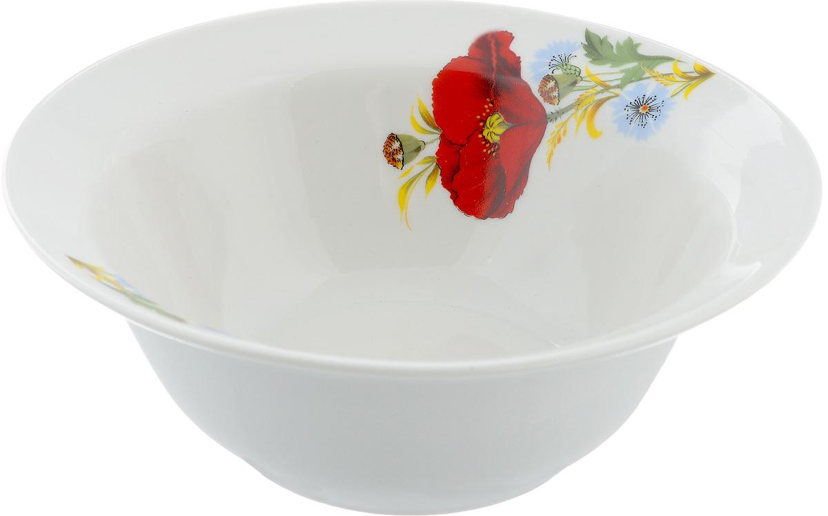 Миска Маки красные, 600 мл507705Оригинальная миска Маки красные, изготовленная из высококачественного фарфора, с внутренней стороны декорирована красочным изображением цветов. Такая миска украсит сервировку вашего стола и подчеркнет прекрасный вкус хозяина, а также станет отличным подарком.