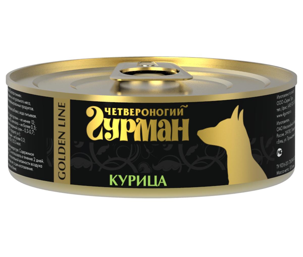 """Консервы для собак """"Четвероногий Гурман"""", с курицей, 100 г 47311"""