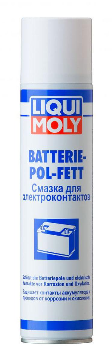 Смазка для электроконтактов Liqui Moly Batterie-Pol-Fett, 0,3 л8046Смазка Liqui Moly Batterie-Pol-Fett применяется для длительной защиты клемм аккумуляторов от коррозии. Смазка предотвращает коррозию, повышая стабильность и надежность работы аккумулятора. Использование смазки снижает потери напряжения аккумулятора, продлевая срок его эксплуатации. Особенности: Оптимальные свойства для электроники. Хорошая совместимость с пластиком. Антикоррозионное действие. Предотвращает ток утечки. Снижает контактное сопротивление.