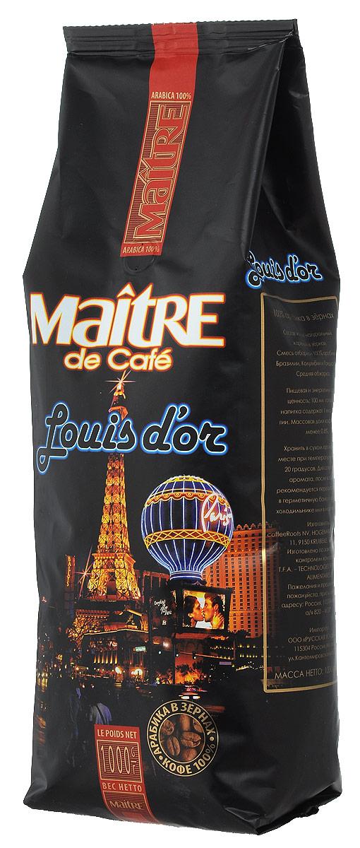 Maitre Луидор кофе в зернах, 1 кг4607099092617Maitre Луидор - ароматная смесь зёрен арабики из Бразилии, Колумбии и Гондураса. При приготовлении эспрессо даёт великолепный крем и сбалансированный вкус. Подходит также для приготовления кофе в турке и френч-прессе.
