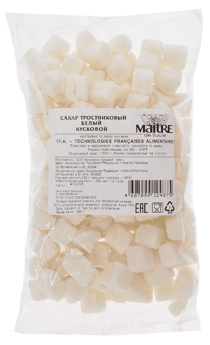 Maitre de Sucre сахар тростниковый белый кусковой, 800 г