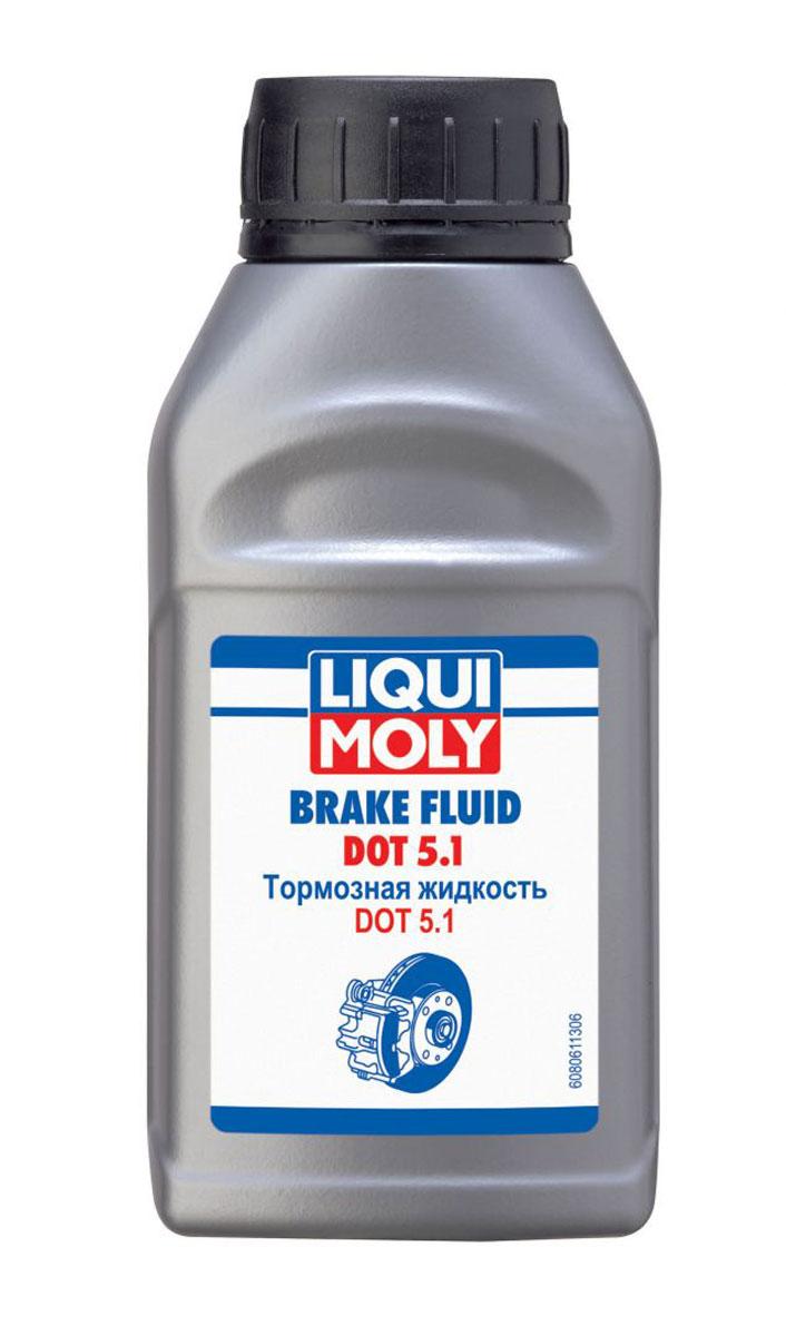 Жидкость тормозная LiquiMoly Brake Fluid DOT 5.1, 0,25 л8061Синтетическое маловязкая тормозная жидкость, с увеличенной температурой кипения, для автомобилей и мотоциклов, оборудованных системами ESP, ASR, ABS.