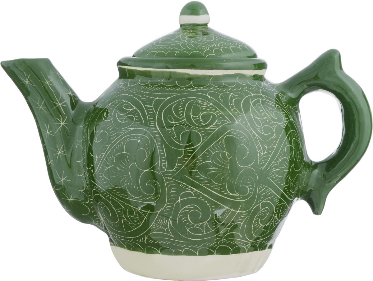 Чайник заварочный Sima-land Риштан, 600 мл. 13358741335874Заварочный чайник Sima-land Риштан изготовлен из высококачественной глазурованной керамики и оформлен национальной узбекской росписью. Такой чайник идеально подойдет для заваривания чая. Он хорошо держит температуру, что способствует более полному раскрытию цвета, аромата и вкуса чайного букета. Изделие прекрасно дополнит сервировку стола к чаепитию и станет его неизменным атрибутом. Диаметр чайника (по верхнему краю): 8,2 см. Высота чайника (с учетом крышки): 14,5 см.