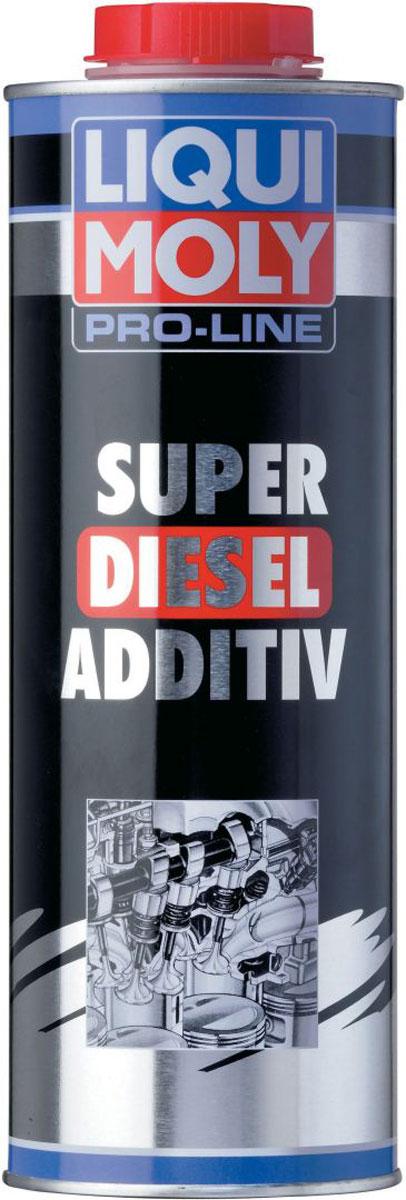 Модификатор дизельного топлива Liqui Moly Pro-Line Super Diesel Additiv, 1 л5176Liqui Moly Pro-Line Super Diesel Additiv - это профессиональный модификатор топлива для повышения цетанового числа для применения на АЗС, предприятиях и в транспортных компаниях. Повышает воспламеняемость холодного топлива, что улучшает холодный пуск дизельного двигателя. Обладает комплексным очищающими, защитным и смазывающим действием на всю топливную систему. Повышает силовые показатели двигателя за счет повышения качества сгорания топлива. Особенности: Обеспечивает чистоту и предотвращает отложения в топливной системе и камере сгорания. Поддерживает чистоту впрыскивающих форсунок, обеспечивает оптимальное сгорание в двигателе, что ведет к малому удельному расходу топлива и максимальной мощности двигателя. Предотвращает пригорание и осмоление форсуночных игл. Повышает смазочный эффект дизельного топлива с малым содержанием серы (low sulphur diesel согласно DIN EN 590) и защищает распределительный топливный насос от износа. Повышает цетановое...