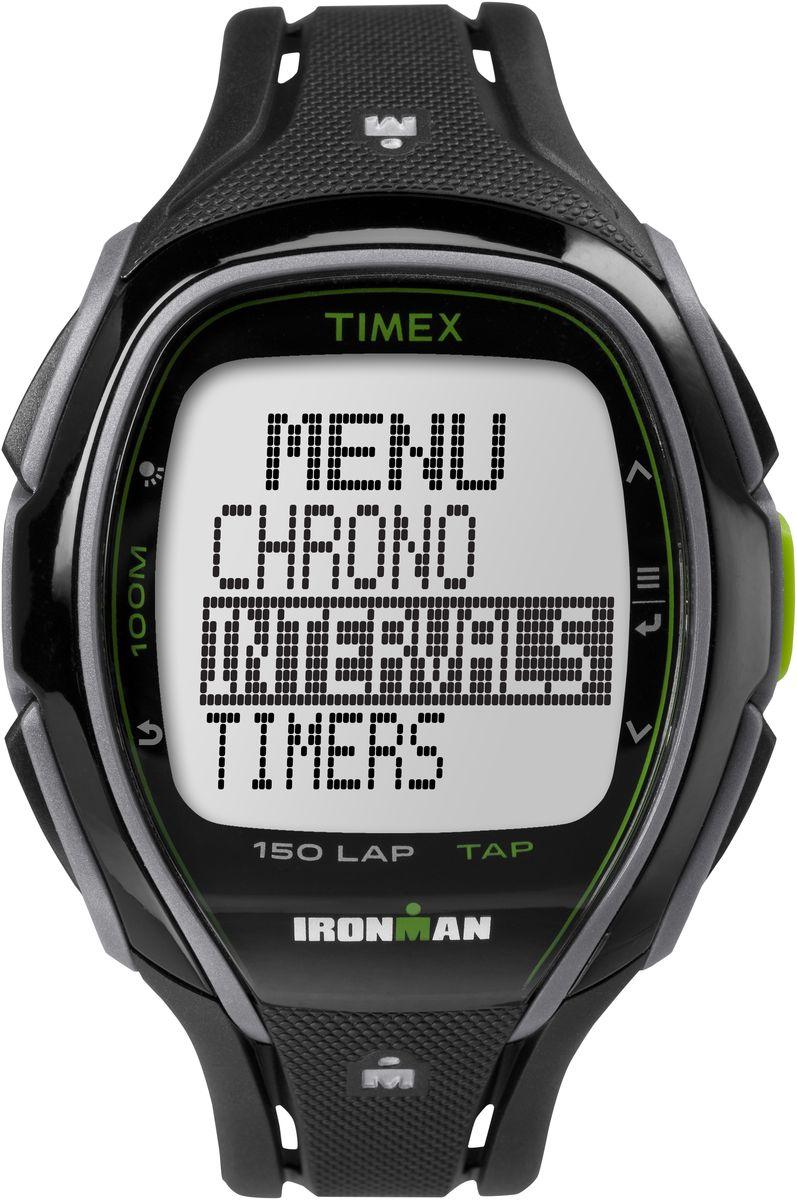 Наручные часы мужские Timex Sleek Premium, цвет: черный. TW5K96400TW5K96400Облегченный дизайн,Легкое в использовании Меню,TapScreen,Секундомер с LAP функцией, интервальный таймер, счетчик пульса &Hydration Alerts, Водозащита 100АТМ, Подсветка INDIGLO®,Ширина корпуса 46мм, Черно-зеленый корпус