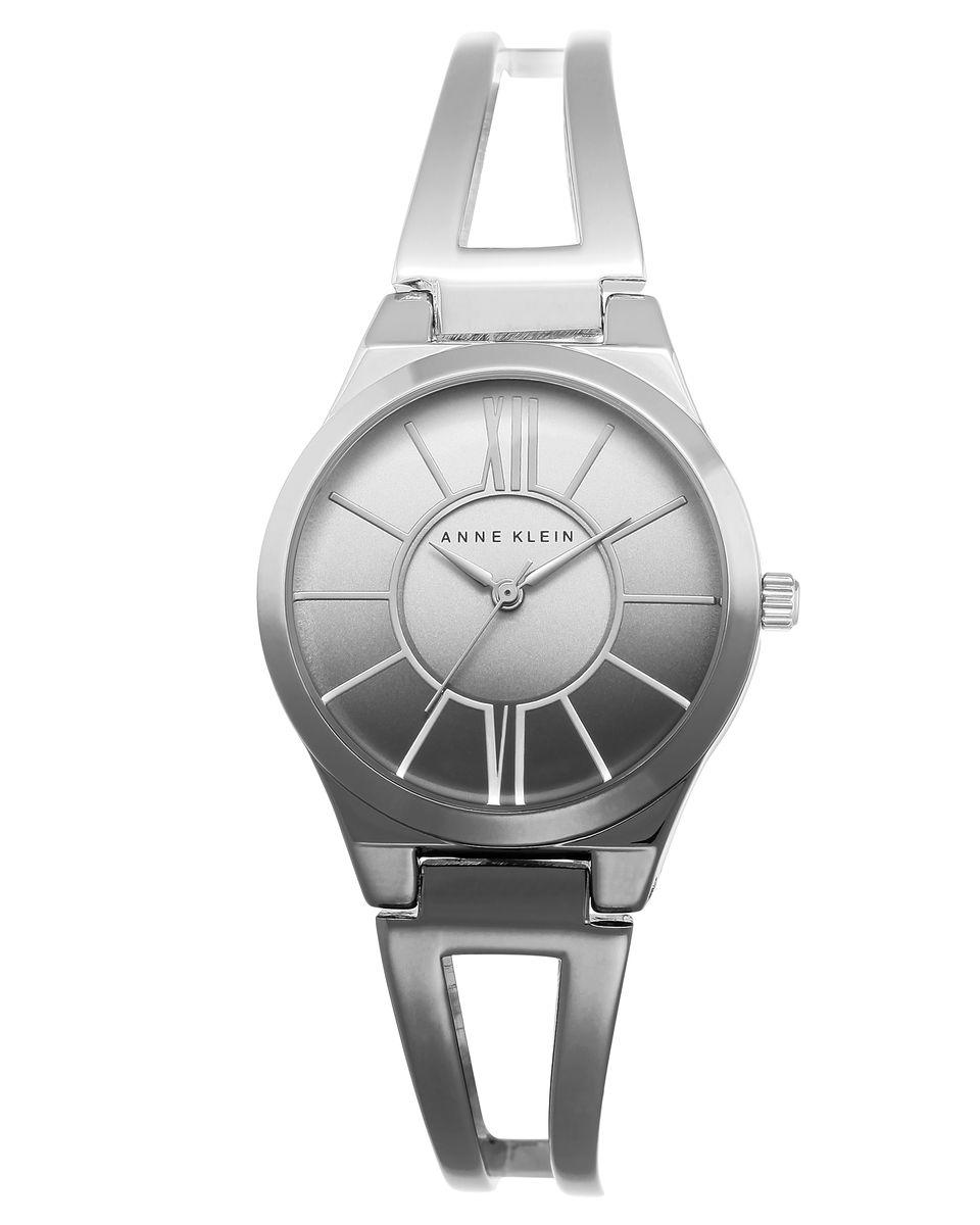 Наручные часы женские Anne Klein Ring, цвет: серебристый. 2153 OMGY2153 OMGYКорпус 37,3 мм, серо- серебристый градиент, водозащита 3 АТМ
