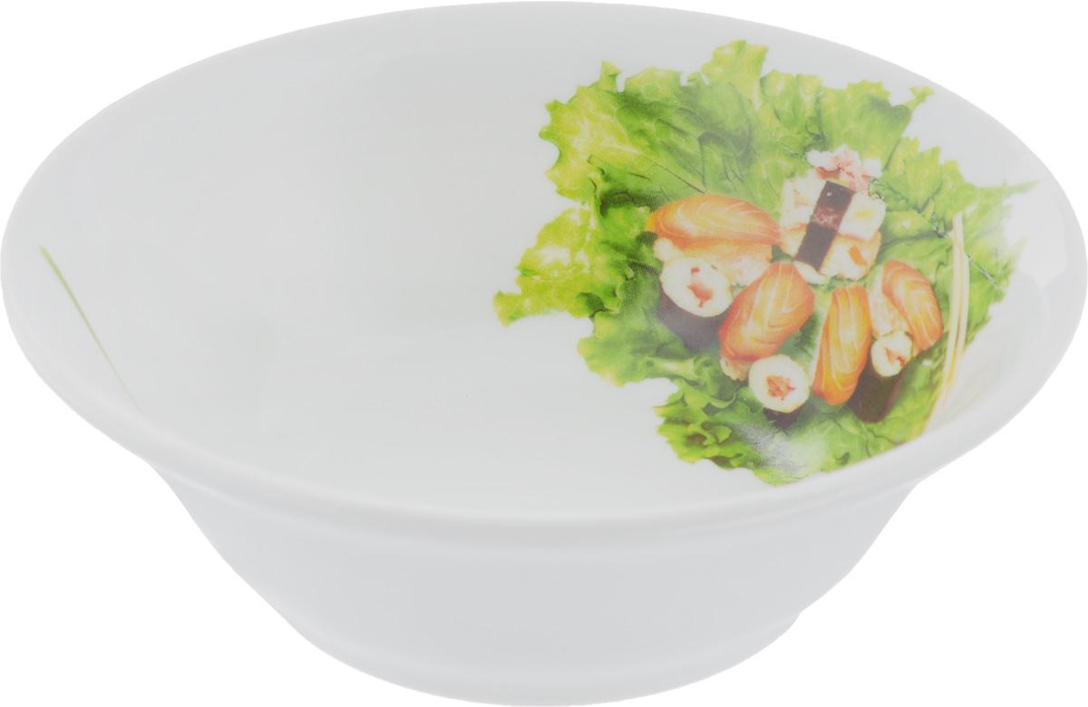 Салатник Идиллия. Бутерброды, 360 мл1303772Элегантный салатник Идиллия. Бутерброды, изготовленный из высококачественного фарфора, прекрасно подойдет для подачи различных блюд: закусок, салатов или фруктов. Такой салатник украсит ваш праздничный или обеденный стол, а оригинальное исполнение понравится любой хозяйке.