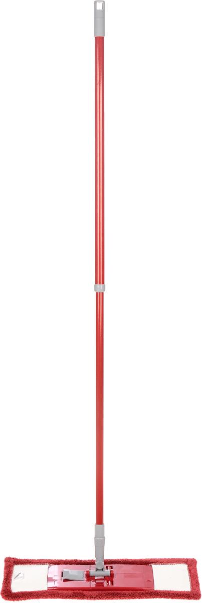 Швабра Флэт, с телескопической ручкой и сменной насадкой, цвет: вишневый. 14022111.4.02.2116Легкая и удобная протирочная швабра Флэт предназначена для мытья полов, стен, потолков и других больших поверхностей. Она выполнена из высококачественного металла и пластика, а также оснащена коротковорсной насадкой их микрофибры. Подвижное крепление телескопической рукоятки к насадке позволяет мыть полы в труднодоступных местах. Насадка легко удаляет пыль, не оставляя разводов и ворсинок. Благодаря такой швабре, уборка станет легким и приятным делом, а время работы сократится в несколько раз. Длина ручки: 52-128 см. Размер насадки: 44 х 14 х 2 см.